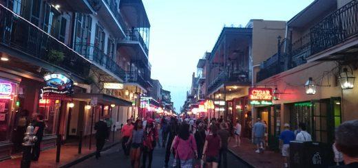 French Quarter - Bourbon Street - endlich in New Orleans angekommen