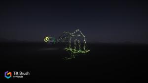Mein VR Kunstwerk - in 2 D verliert es stark