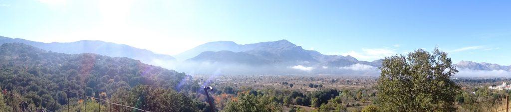 Panorama Aufnahme von Kreta