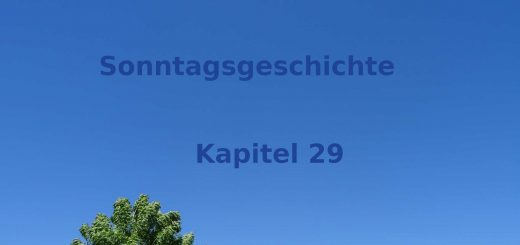 Sonntagsgeschichte Kapitel 29 - Blogroman