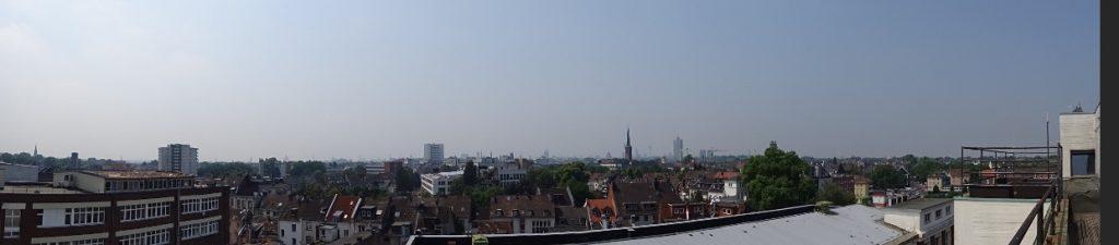 Aussicht vom Dach des Bastei Lübbe Gebäudes über Köln