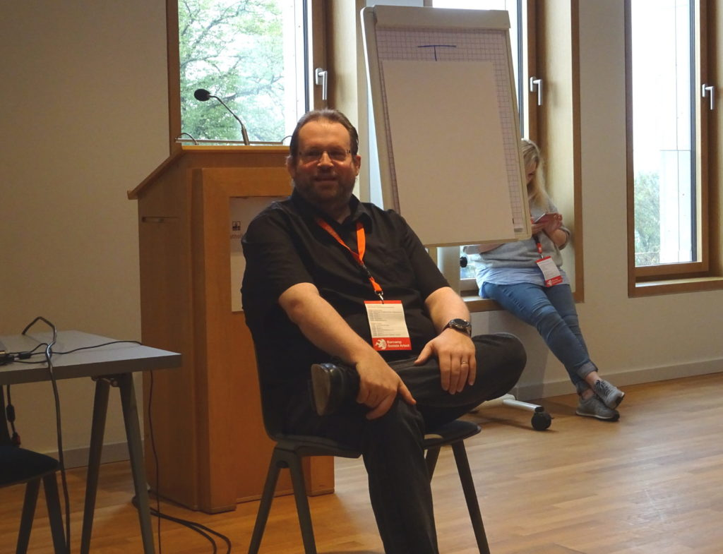 Aleksander Knauerhase auf dem Sozialcamp 2018