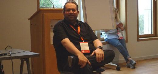 Alexander Knauerhase auf dem Sozialcamp 2018