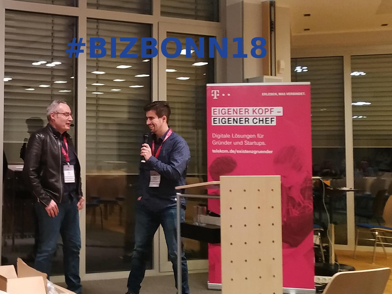 Oliver Kepka und Sascha Förster auf dem #BizBonn18 im Social Impact Lab
