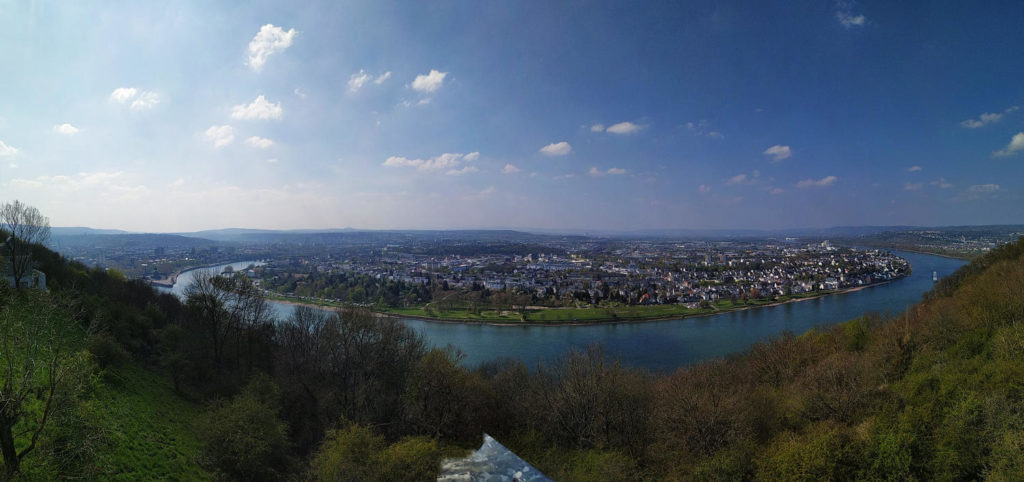 Ausblick auf den Rhein, Koblenz, Deutsches Eck