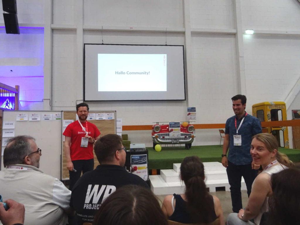 Johannes und Sascha eröffnen den Qualitätssonntag für die Community #bcbn19