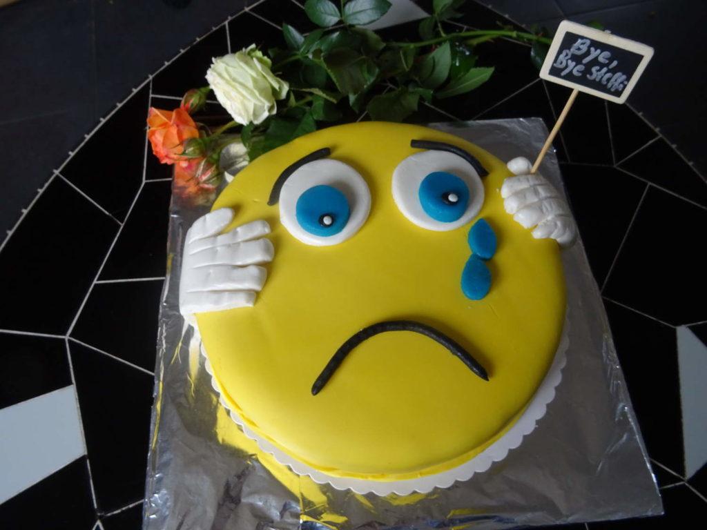 Diese wunderbare Torte habe ich von meiner lieben Kollegin Claudia bekommen mit ich sehr gerne die Pause verbracht habe <3