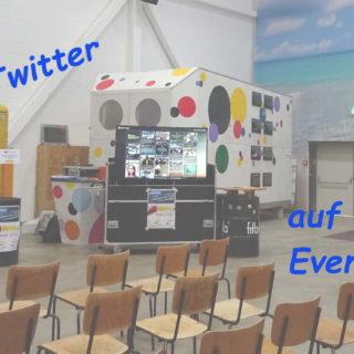 Twitter auf Events, Bild vom bcbn19 mit der Twitterwall