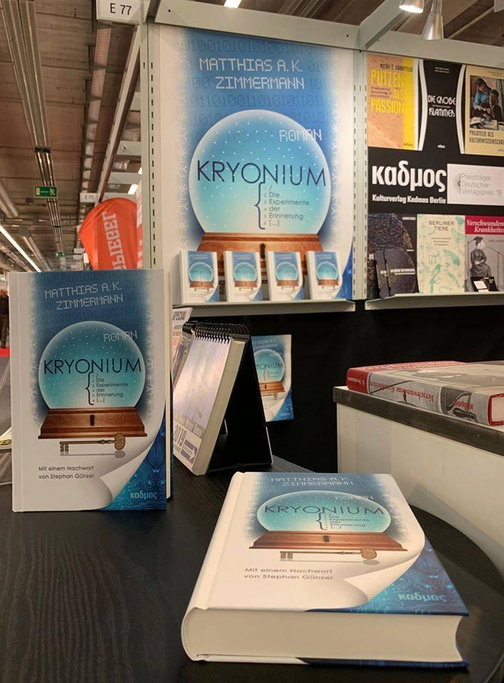 Kryonium, Bild vom Messestand auf der Frankfurter Buchmesse 2019 (c) Matthias Zimmermann