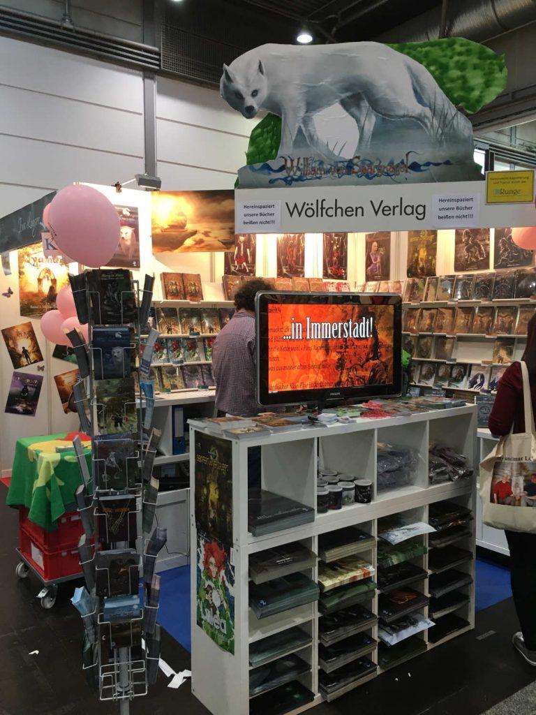 Stand des Wölfchen Verlages (c)  Felizitas Montforts