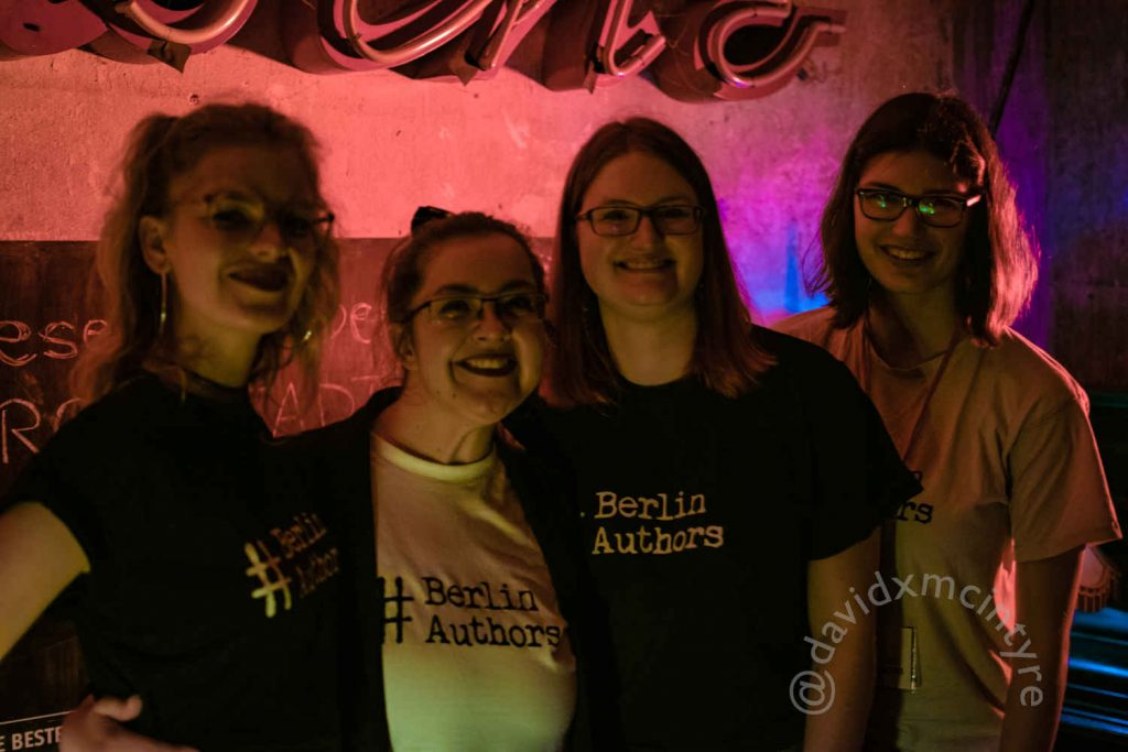 Berlin Authors, Das Team von links nach rechts: Sophie, Jen, Katharina und Liv (c) davidxmcintyre
