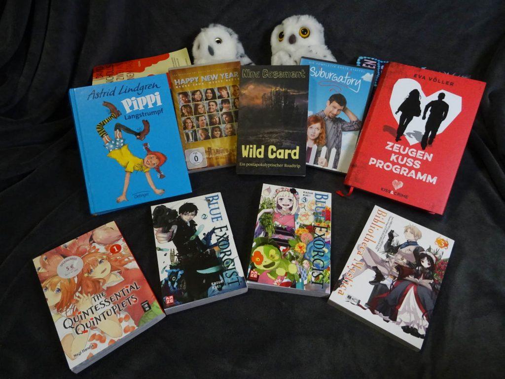Gelesene Bücher & Manga, sowie 2 DVDs