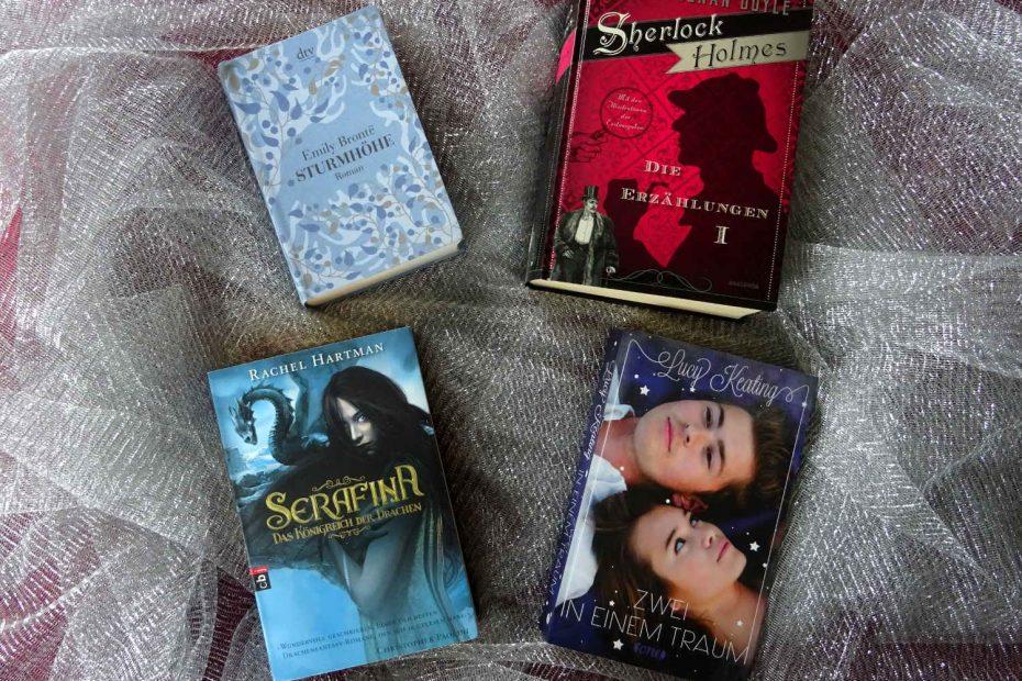 Je ein Buch pro Challenge: Sherlock Holmes, Sturmhöhe, Serafina, Zwei in einem Traum