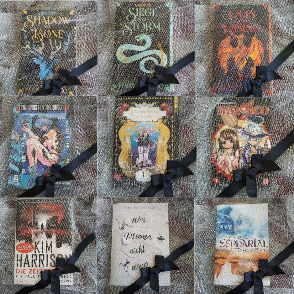 Meine Bingokarte mit aneun Titeln