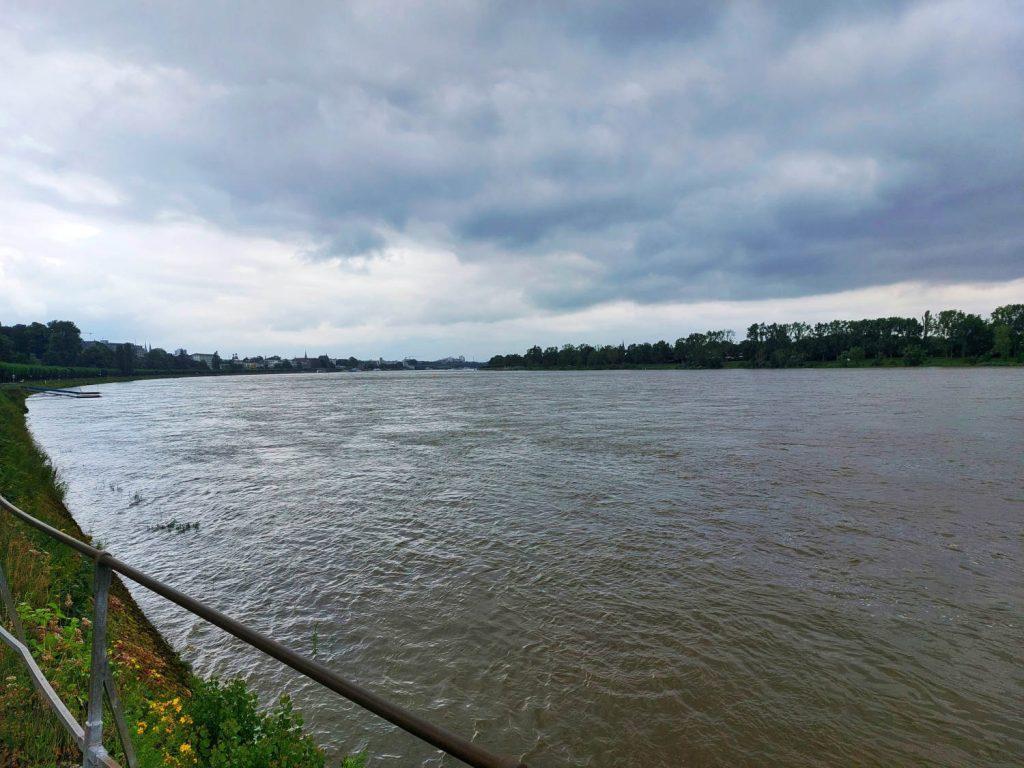 Rhein in Bonn, Blick Richtung Innenstadt