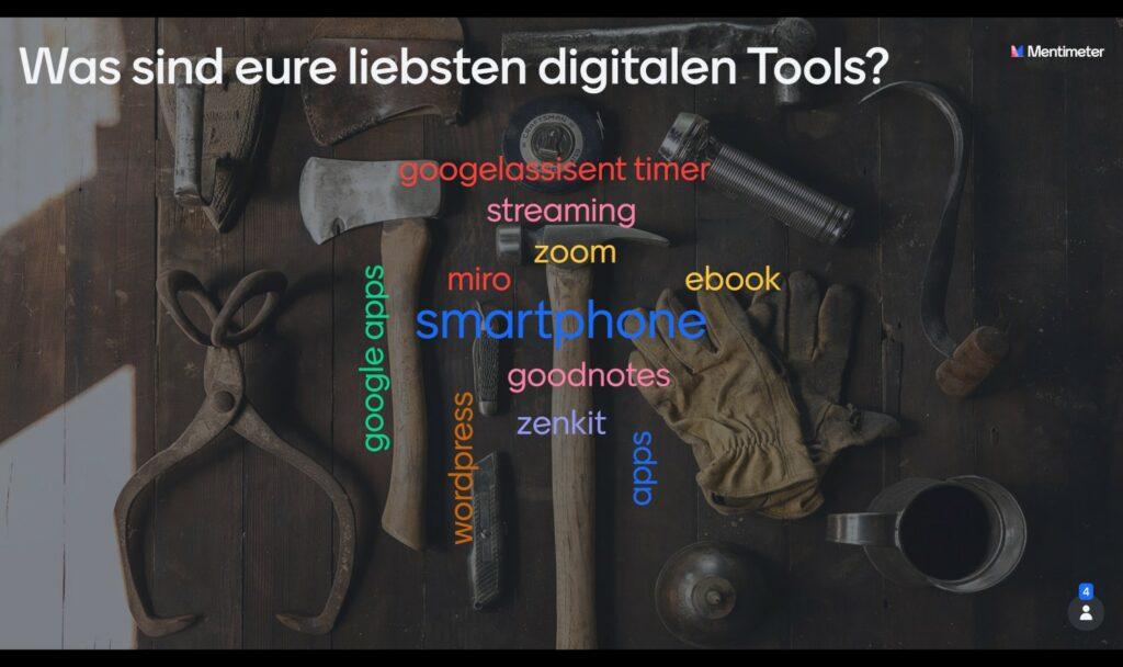 Was sind eure liebsten digitalen Tools? Smartphone, Goodnotes, Miro, Zoom, eBook, Goodnotes, Zenkit, Apps, wordpress, GoogleApps, Googleassistent timer, Streaming