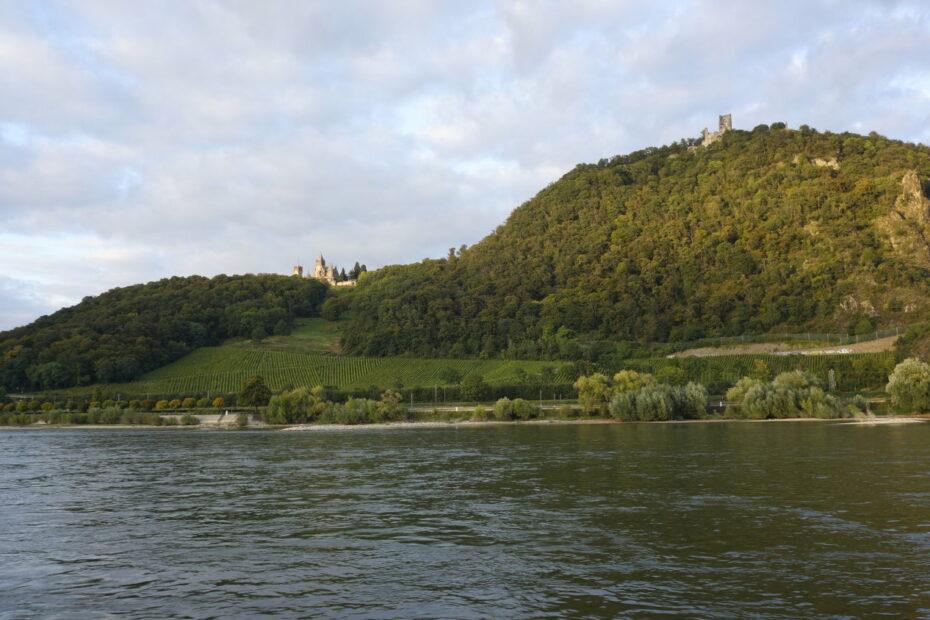Drachenfels von Rhein aus